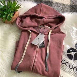 nwt // avocado paz full zip fleece sweatshirt